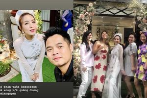 Hotgirl Mie Nguyễn diện áo dài trắng, xinh đẹp trong lễ ăn hỏi