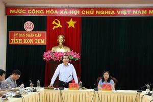 Ủy ban Quốc gia phòng chống AIDS, ma túy, mại dâm làm việc tại tỉnh Kon Tum