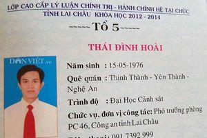 Đình chỉ Trưởng phòng Cảnh sát Kinh tế tỉnh Lai Châu dùng bằng cấp 3 giả để tiến thân