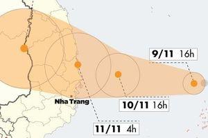 Bão Nakri giật cấp 14, nhắm vào Quảng Ngãi - Khánh Hòa