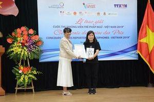Trao giải cuộc thi 'Phóng viên trẻ Pháp ngữ-Việt Nam 2019'