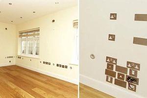 Kỳ quái căn nhà có tới 320 ổ cắm trên tường, với tay là có ngay chỗ cắm điện