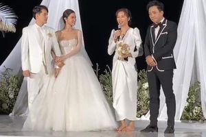 Ngô Thanh Vân bị ép nhận hoa cưới của Đông Nhi và Ông Cao Thắng