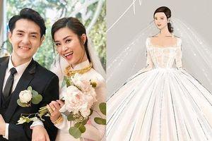 Hé lộ 2 mẫu váy cưới được may riêng theo yêu cầu khắt khe của Đông Nhi