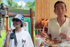 Sau đám cưới ai về thì về, BB Trần với Diệu Nhi cứ phải tranh thủ… 'chén' nốt bữa buffet: Ăn lấy sức chiều chơi tiếp!