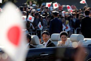 Nhật hoàng Naruhito và Hoàng hậu diễu hành ra mắt người dân Nhật Bản