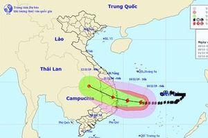 Dự báo: Bão số 6 đi vào đất liền các tỉnh từ Quảng Ngãi đến Khánh Hòa với sức gió mạnh cấp 8-9, giật cấp 11