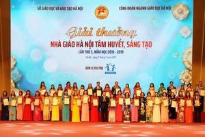 Hà Nội vinh danh 125 nhà giáo tâm huyết, sáng tạo