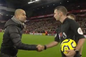 Pep cảm ơn trọng tài sau trận thua Liverpool