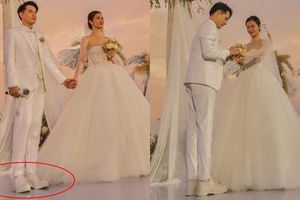 Fan 'soi' được Ông Cao Thắng đi giày độn đế trong đám cưới với Đông Nhi