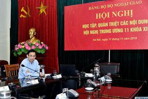 Bộ Ngoại giao quán triệt nội dung Nghị quyết Trung ương 11 khóa XII của Đảng
