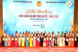 Hà Nội tuyên dương tấm gương nhà giáo mẫu mực Thủ đô 2019