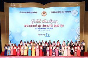 Hà Nội tôn vinh 40 nhà giáo tiêu biểu, xuất sắc nhất các cấp học