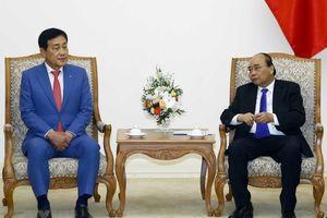 Thủ tướng Nguyễn Xuân Phúc tiếp Chủ tịch Tập đoàn tài chính Hana