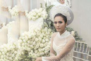 Siêu mẫu gốc Khmer hóa thành nàng dâu yêu kiều với áo dài cưới