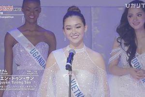 Tường San lọt top 8, thuyết trình tiếng Anh tự tin tại Hoa hậu Quốc tế 2019