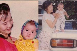 Thả vài tấm ảnh thời bé chụp cùng mẹ, tình cũ Phan Thành làm ai cũng ngạc nhiên với nhan sắc đấng sinh thành