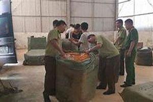 Tạm giữ gần 4 tấn quần áo cắt mác nước ngoài gắn nhãn thương hiệu Việt