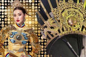 Tường San gặp sự cố gãy mấn áo dài trang phục dân tộc ngay trước chung kết Miss International 2019