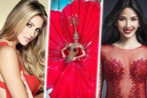 Hoa hậu Puerto Rico công bố trang phục dân tộc 'Hoa dâm bụt' đối chọi với Hoàng Thùy tại Miss Universe 2019