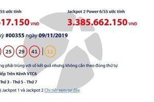 Kết quả xổ số Vietlott Power 6/55 ngày 12/11: 'Nổ' tiếp giải thưởng gần 60 tỷ đồng?