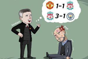 Biếm họa 24h: Thua đau Liverpool, Pep Guardiola bị Solskjaer 'chọc quê'