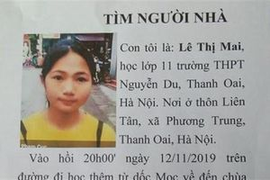 Thiếu nữ mất tích bí ấn: Điện thoại không liên lạc được