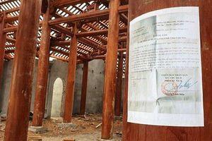 Công trình chùa xây dựng trái phép: Xã không báo cáo nên huyện không biết?