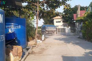 Dân khổ vì xe chở vật liệu xây dựng cảng thủy nội địa ở Vũng Tàu