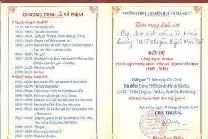 Kiên Giang không cho phép 3 trường chiêu đãi nhân kỷ niệm 30 và 40 năm thành lập