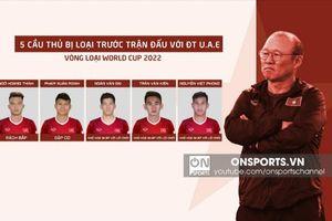25 Cầu thủ được huấn luyện viên chọn để quyết đấu với UAE và Thái Lan