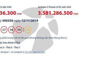 Kết quả xổ số Vietlott Power 6/55 ngày 14/11: Tìm ra tỉ phú thứ 5 của tổng giải Jackpot hơn 60 tỉ đồng?
