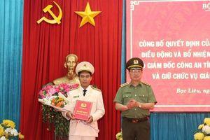 Phó Giám đốc Công an Bình Thuận về làm Giám đốc Công an tỉnh Bạc Liêu