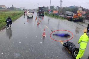 Va chạm với xe container, người đi xe máy chết thảm