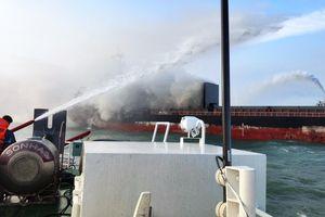 Kịp thời cứu nạn tàu Yong Shun, quốc tịch Trung Quốc bị cháy trên vùng biển Bà Rịa-Vũng Tàu