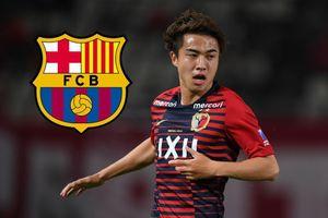 Tiền đạo trẻ người Nhật Bản lần đầu thi đấu cho đội một của Barca