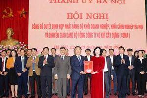 Hợp nhất hai Đảng bộ Khối Doanh nghiệp, Khối Công nghiệp Hà Nội