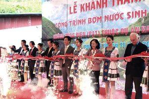 Hà Giang khánh thành công trình bơm nước sinh hoạt không dùng điện