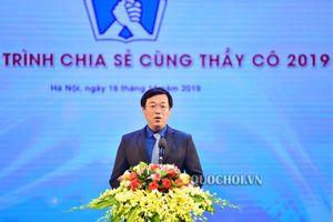Phó Chủ tịch Thường trực Quốc hội Tòng Thị phóng dự Chương trình 'chia sẻ cùng thầy cô 2019'