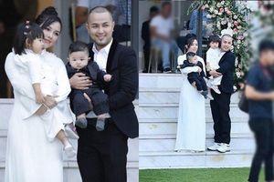 Diện áo dài trắng đơn giản trong lễ cưới em chồng, chị dâu Bảo Thy vẫn xinh đẹp khó cưỡng
