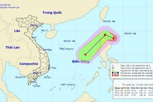 Xuất hiện bão Kalmaegi gần Biển Đông mạnh cấp 11