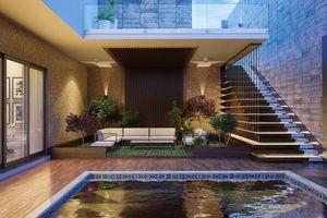 Ngôi nhà phố sở hữu hồ bơi tuyệt đẹp nằm ngay trong nhà