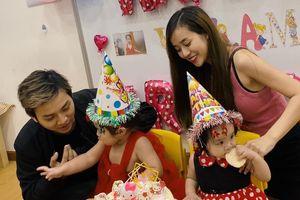 Vợ chồng Hoài Lâm tổ chức sinh nhật con tại trường