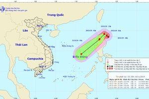 Hiện bão KALMAEGI ở ngay trên vùng biển đảo Lu-dông