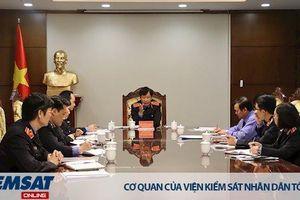 Lãnh đạo VKSND tối cao làm việc với Báo Bảo vệ pháp luật về công tác tuyên truyền 60 năm thành lập Ngành