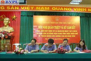 VKSND Thừa Thiên - Huế ký cam kết về trách nhiệm nêu gương của cán bộ, đảng viên