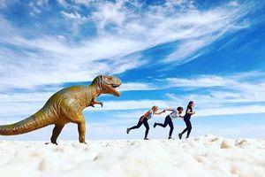 Muốn ảnh hết 'nhạt' thì nên một lần đến 'sống ảo' ở cánh đồng muối siêu to khổng lồ này