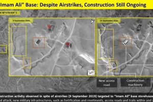 Hình ảnh vệ tinh mới tố Iran xây cầu và căn cứ quân sự ở Đông Syria