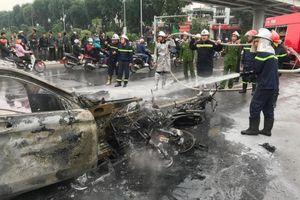 Nữ tài xế lái Mercedes GLC 250 đâm hàng loạt xe máy gây cháy lớn khiến một cô gái tử vong thương tâm có thể bị phạt tù