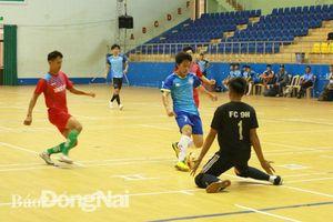 Xác định 4 đội vào bán kết Giải futsal nam các CLB tỉnh Đồng Nai 2019